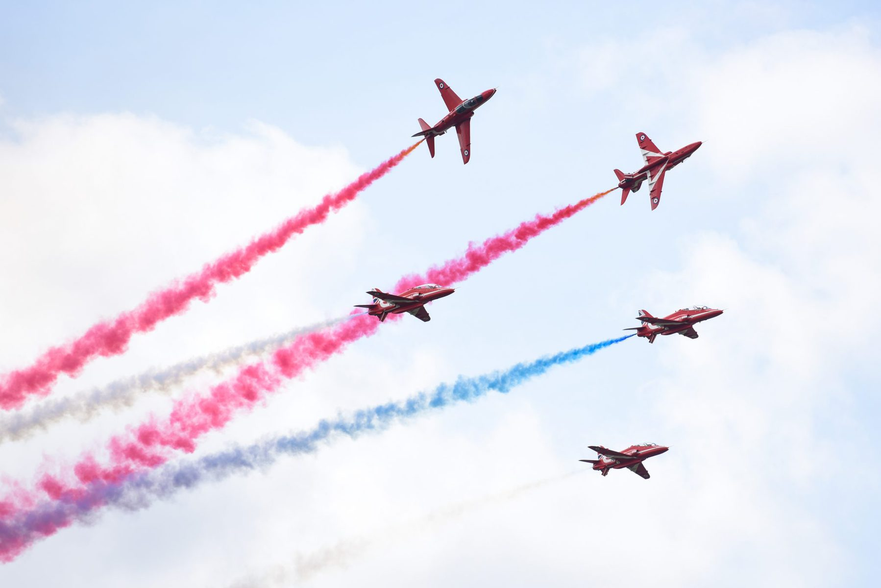 The Red Arrows at Wattisham